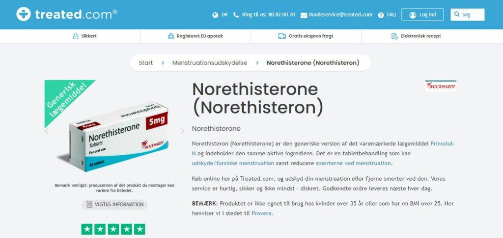 Køb Norethisterone